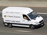 carpet express london carpet delivery van