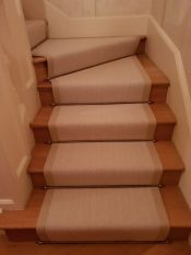 Transforming a simple staircase with stairods in Chelsea London